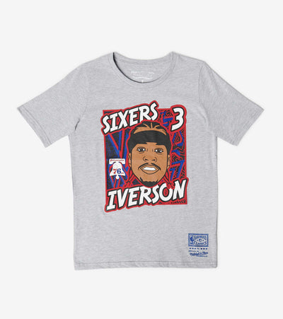 Mitchell And Ness  Boys King of the Court Iverson Tee  Grey - 9N2B7BME8N0176RI-B04 | Jimmy Jazz