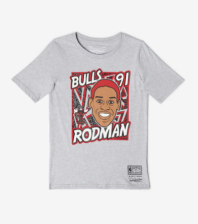 Mitchell And Ness  Boys King of the Court Rodman Tee  Grey - 9N2B7BME8N01BUDR-B04 | Jimmy Jazz