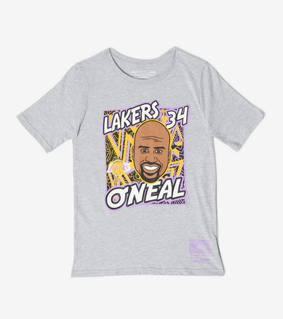Mitchell And Ness  Boys King of the Court Shaq Tee  Grey - 9N2B7BME8N01LAKO-B04 | Jimmy Jazz