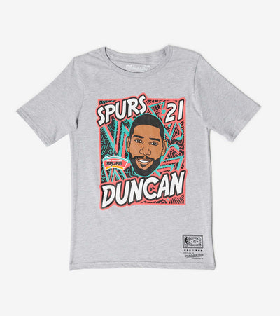 Mitchell And Ness  Boys King of the Court Duncan Tee  Grey - 9N2B7BME8N01SPUT-B04 | Jimmy Jazz