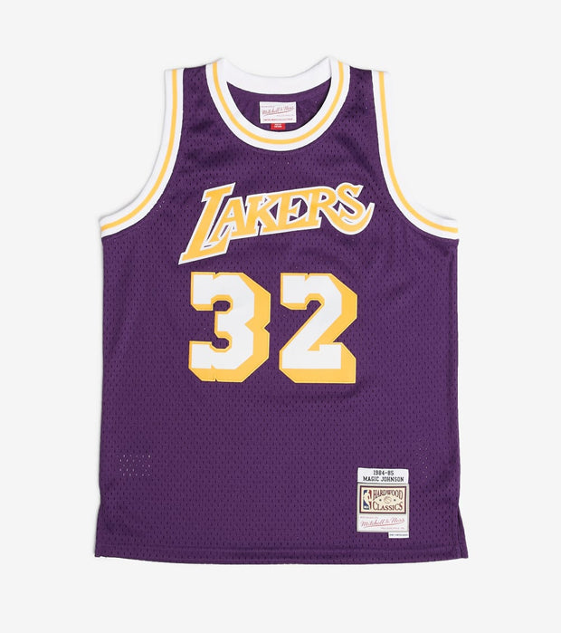 Mitchell And Ness  Boys Magic Johnson 32 Lakers Jersey  Purple - 9N2B7BRD0LAKMJ-Y84 | Jimmy Jazz