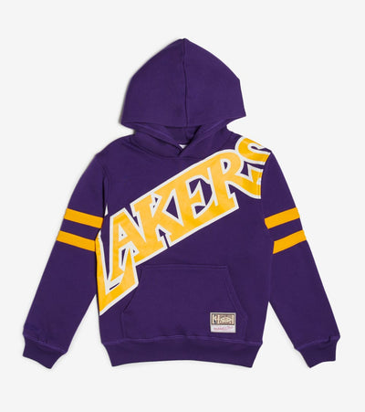 Mitchell And Ness  Boys NBA Big Face Lakers Hoodie  Purple - 9N2B7NAD6LAK-000 | Jimmy Jazz