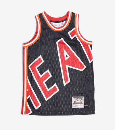 Mitchell And Ness  Boys NBA Big Face Heat Jersey  Black - 9N2B7NADBHEA-000 | Jimmy Jazz