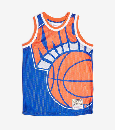 Mitchell And Ness  Boys NBA Big Face Knicks Jersey  Blue - 9N2B7NADBNYK-000 | Jimmy Jazz