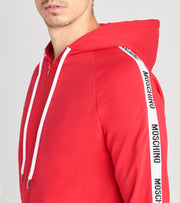 Moschino  Basic Fleece Zip Hoodie with Side Logo  Red - A17078106-0118 | Jimmy Jazz