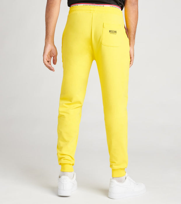 Moschino  Basic Fleece Sweatpants With Logo Band  Yellow - A43038106-0026 | Jimmy Jazz