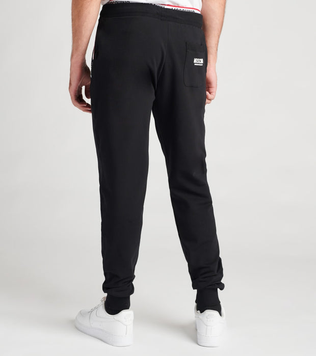 Moschino  Basic Fleece Sweatpants With Logo Band  Black - A43038106-0555 | Jimmy Jazz