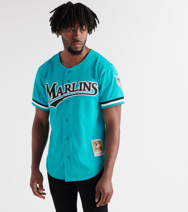 Mitchell And Ness  Andre Dawson 1995 Marlins BP Jersey  Green - ABBFGS18311-TEA | Jimmy Jazz