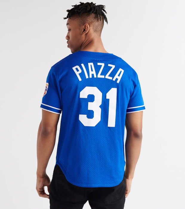 Mitchell And Ness  Mike Piazza 1997 Dodgers BP Jersey  Blue - ABBFGS18312-RYL | Jimmy Jazz