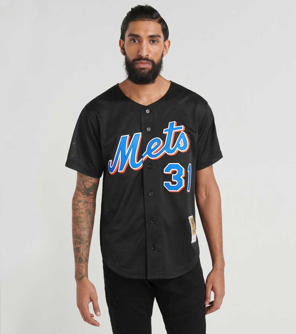 Mitchell And Ness  00 New York Mets Mike Piazza Jersey  Black - ABBFLG18016-NYM | Jimmy Jazz