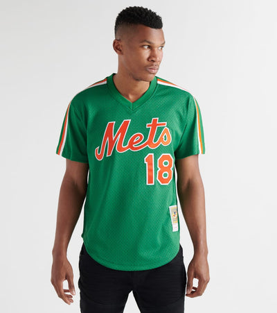 Mitchell And Ness  1988 Mets Darryl Strawberry BP Jersey  Green - ABPJCP18013-GRN | Jimmy Jazz