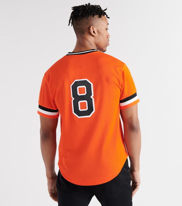 Mitchell And Ness  Cal Ripken 1988 Orioles BP Jersey  Orange - ABPJGS18318-ORG | Jimmy Jazz