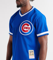 Mitchell And Ness  Ryan Sandberg 1984 Cubs BP Jersey  Blue - ABPJGS18322-RYL | Jimmy Jazz