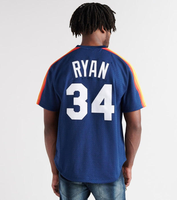 Mitchell And Ness  Nolan Ryan 1988 Astros BP Jersey  Navy - ABPJGS18331-NVY | Jimmy Jazz