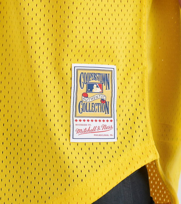 Mitchell And Ness  84 Athletic's Rickey Henderson Jersey  Yellow - ABPJLG18012-OAK | Jimmy Jazz