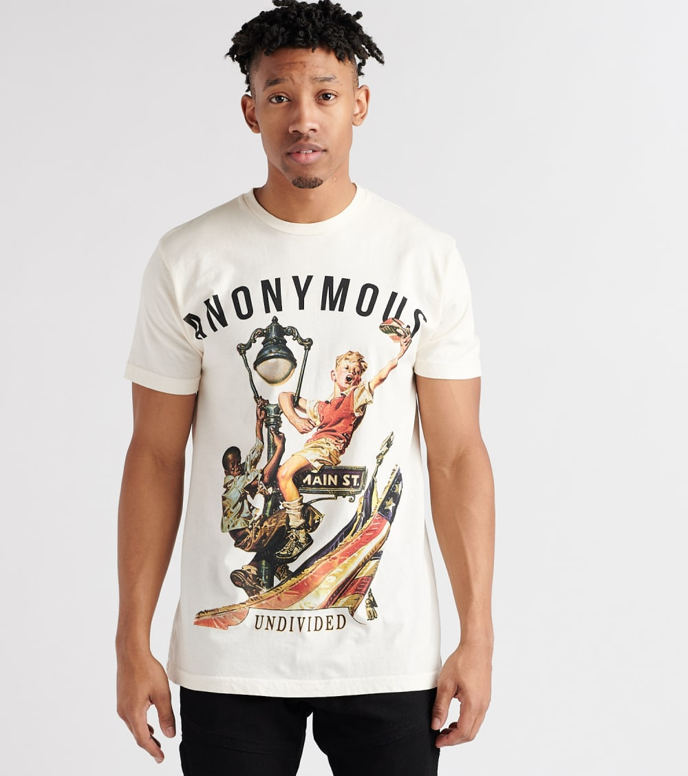 Anonymous  Undivided Tee  White - AJUNDF01-CRM | Jimmy Jazz