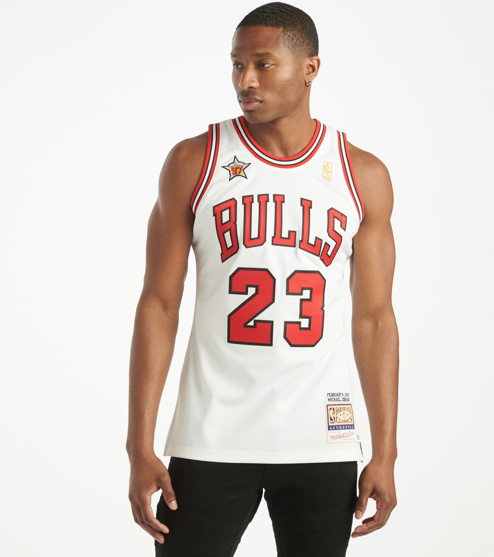 Mitchell And Ness  1997 Authentic Bulls Jordan Jersey  White - AJY4CP19027-WHT | Jimmy Jazz