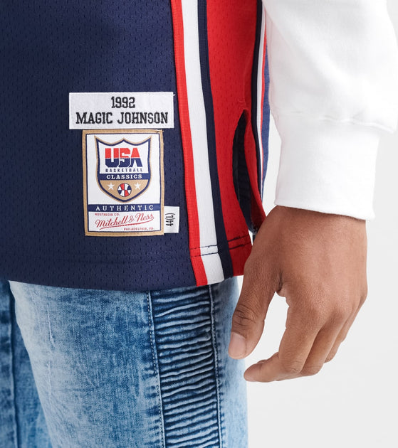 Mitchell And Ness Team Usa Magic Johnson Jersey Navy