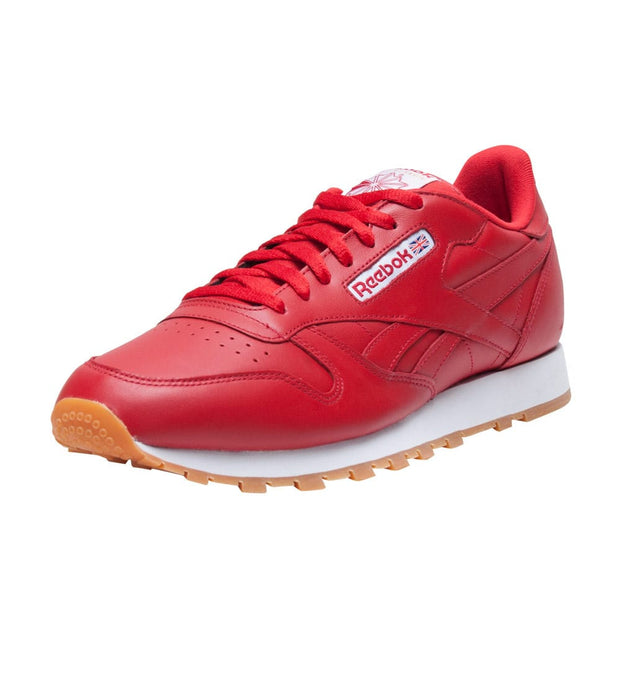 Reebok  CLASSIC LEATHER GUM SNEAKER  Red - AR1215 | Jimmy Jazz