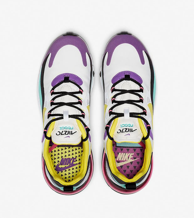 "Nike  Air Max 270 React ""Bright Violet""  White - AT6174-101 