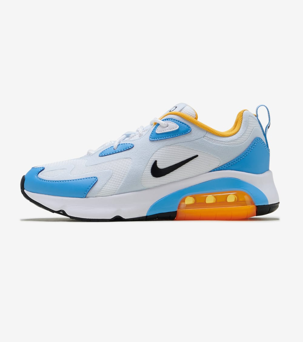 air max 200 blanche et or