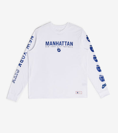 Nike  Nike Breathe LongSleeve Manhattan NYC  White - AT6644-102 | Jimmy Jazz