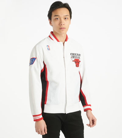 Mitchell And Ness  Bulls Authentic Warm Up Jacket  White - AWJKCP19042-WHT | Jimmy Jazz