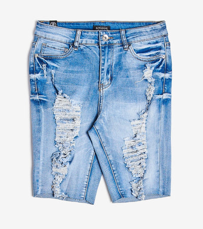 Essentials  Extreme Destruction Shorts  Blue - B20648-MLT | Jimmy Jazz