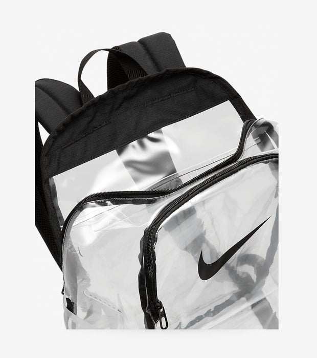 Nike  Brasilia Clear Backpack  Black - BA6553-910 | Jimmy Jazz