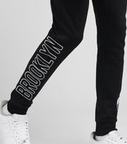 Pro Standard  Brooklyn Fleece Logo Joggers  Black - BBN451535-BLK | Jimmy Jazz