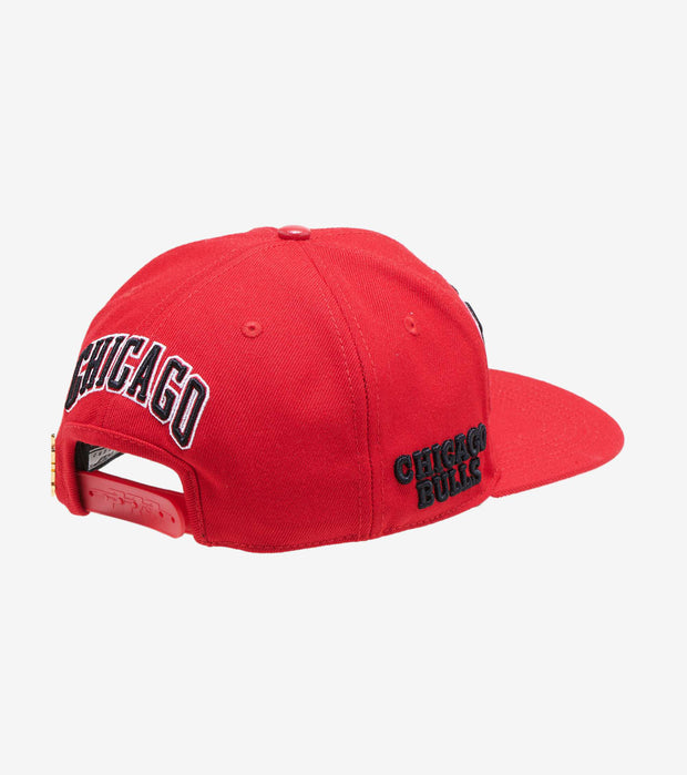 Pro Standard  Bulls Wordmark Snapback Hat  Red - BCB752268-RPN | Jimmy Jazz