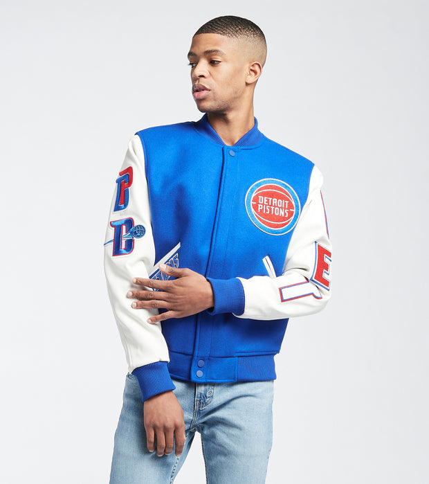 Pro Standard  Detroit Logo Varsity Jacket  Blue - BDP651680-ROY | Jimmy Jazz