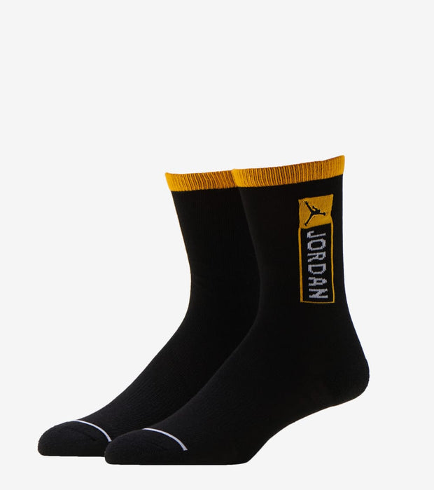 Jordan  Air Jordan 12 Retro Crew Socks 2 Pack  Black - BJ0406-Y1X | Jimmy Jazz
