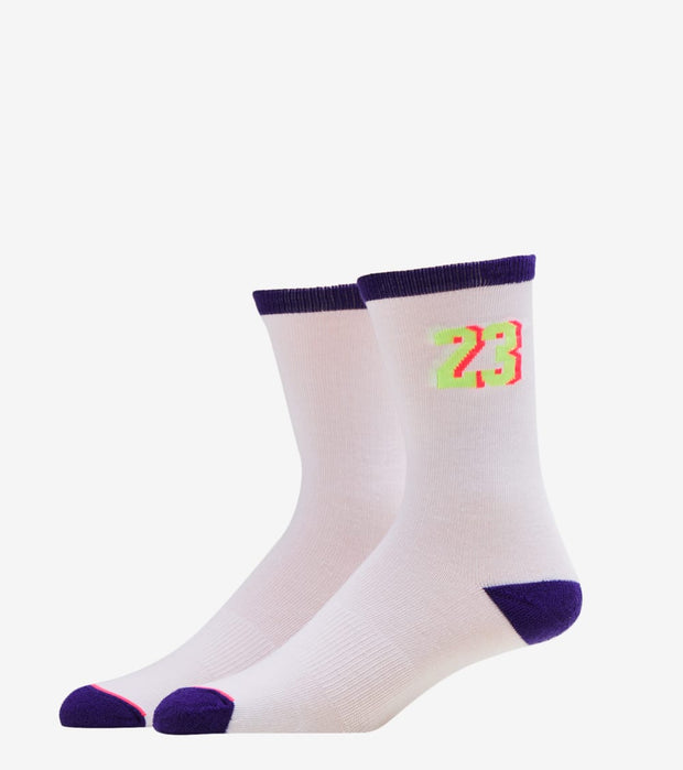 Jordan  AJ5 Retro Bel Aire 2 Pack Crew Socks   White - BJ0415-P51 | Jimmy Jazz