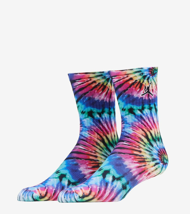 Jordan  Tie Dye Crew 2 Pack Socks  Black - BJ0440-023 | Jimmy Jazz