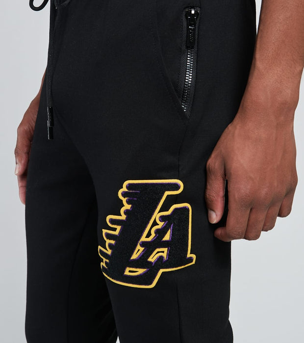 Pro Standard  Lakers Logo Fleece Joggers  Black - BLL451541-BLK | Jimmy Jazz
