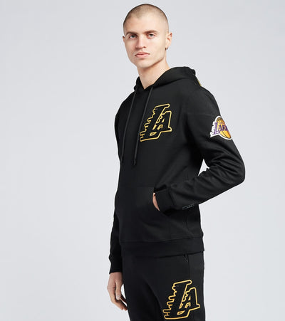 Pro Standard  Lakers Logo Pullover Hoodie  Black - BLL551540-BLK | Jimmy Jazz