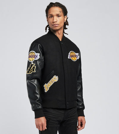 Pro Standard  Lakers Logo Varsity Jacket  Black - BLL651677-BLK | Jimmy Jazz