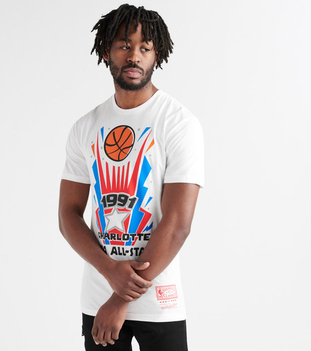 Mitchell And Ness  1991 Charlotte All-Star Tee  White - BMTRMM18370ASG-WHIT | Jimmy Jazz