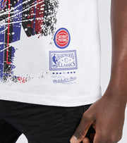 Mitchell And Ness  Detroit Piston Player Dennis Rodman Tee  White - BMTRMM18861DPI-WHIT | Jimmy Jazz