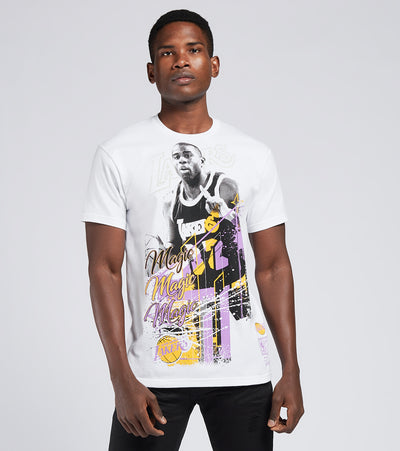 Mitchell And Ness  Los Angeles Lakers Magic Johnson Tee  White - BMTRMM18861LAL-WHIT | Jimmy Jazz