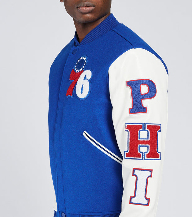 Pro Standard  Philadelphia Logo Varsity Jacket   Blue - BP7651670-ROY | Jimmy Jazz