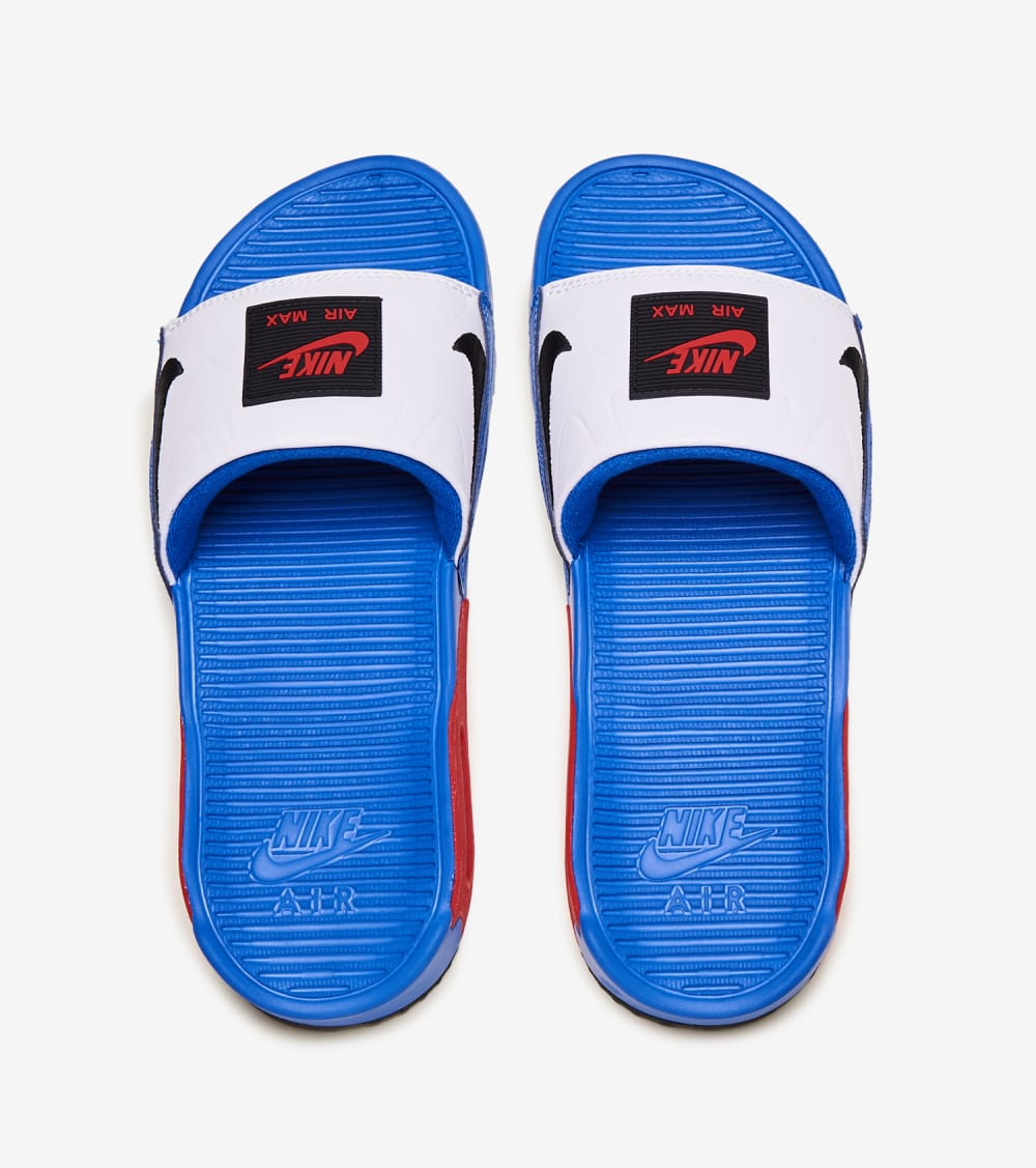Nike Air Max 90 Slide Shoes in Royal/Red/White Size 10 | Synthetic ...