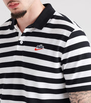 Nike  Picque Script Polo Shirt  White - BQ9074-010 | Jimmy Jazz