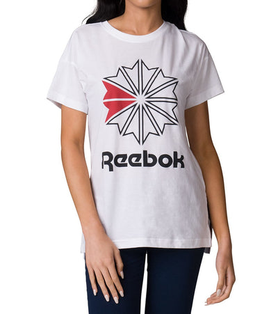 Reebok  Graphic Long Tee  White - BS3734-100 | Jimmy Jazz