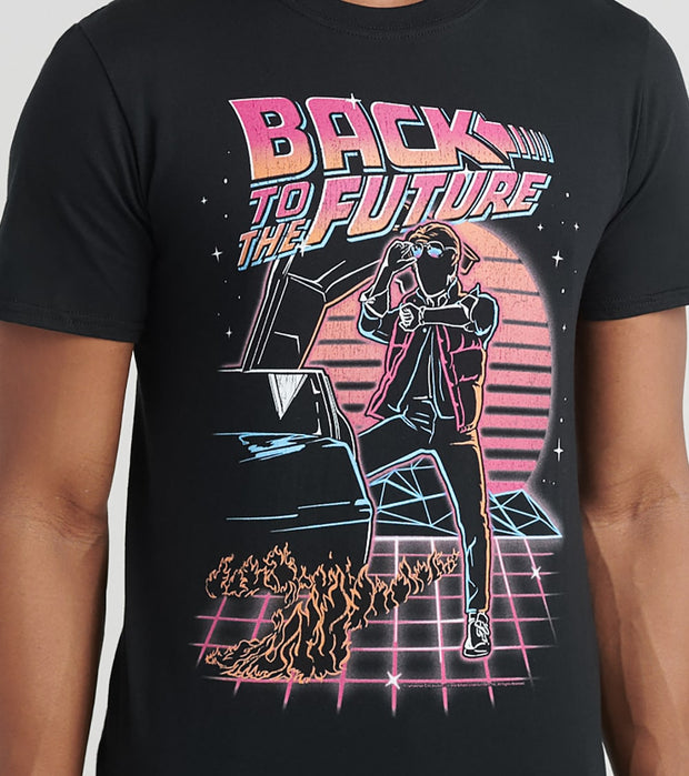 American Classics Inc.  Back to the Future Tee  Black - BTF5360-BLK | Jimmy Jazz