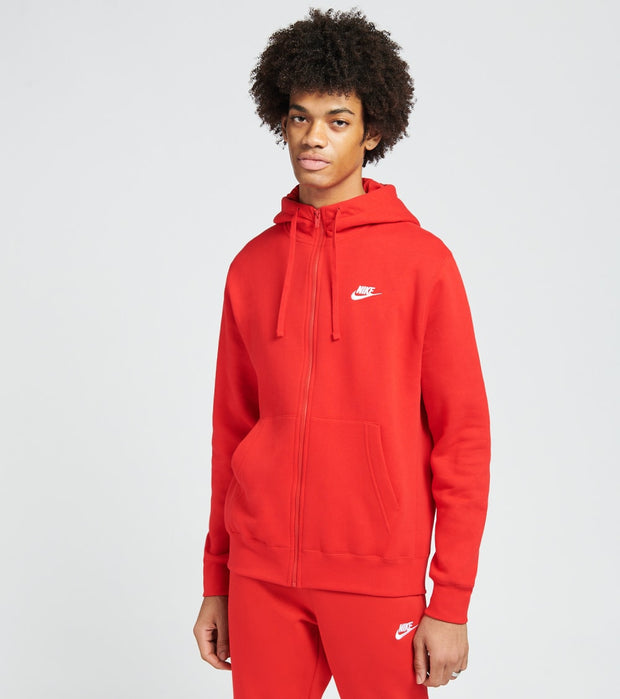 Nike  Nike Sportswear Full Zip Hoodie  Red - BV2645-657 | Jimmy Jazz