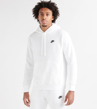 Nike  NSW Club Fleece Pullover Hoodie  White - BV2654-100 | Jimmy Jazz