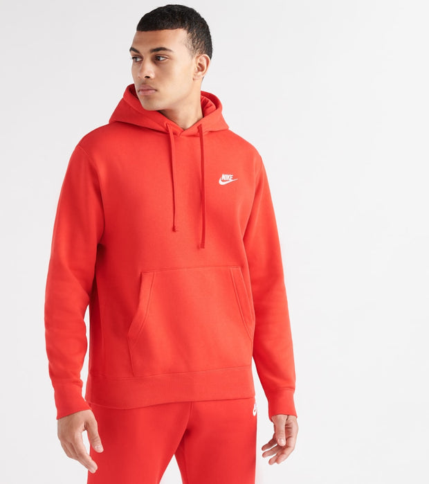 Nike  NSW Club Fleece Pullover Hoodie  Red - BV2654-657 | Jimmy Jazz