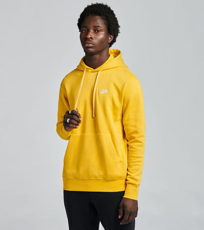 Nike  NSW Club Fleece Pullover Hoodie  Yellow - BV2654-761 | Jimmy Jazz